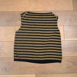 Vince Striped Cropped Sleeveless Sweater
